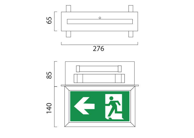 LEDEX Recessed Line Drawing